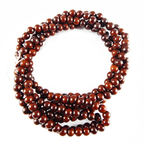Picture of Red Sandal Wood Beads 6mm