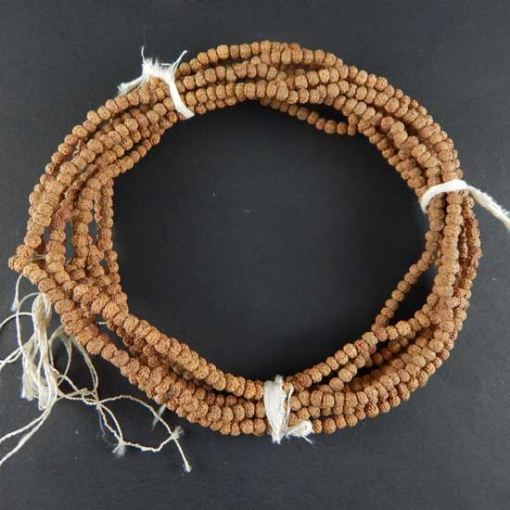 Picture of Rudraksha Beads String (109 pcs) 3mm, Natural Colour