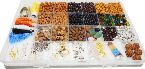 Picture of Mala Making Kit : Approx 2000 pcs of Mala Beads and Supplies
