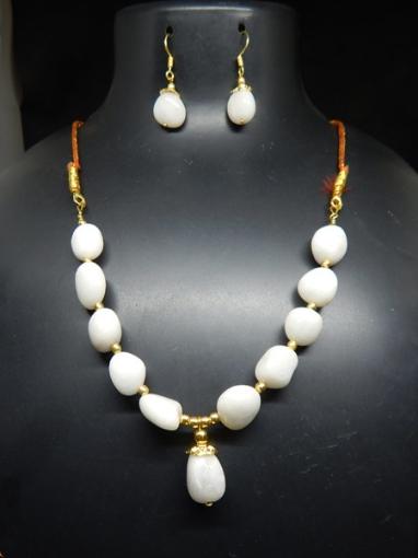 White Agate Necklace