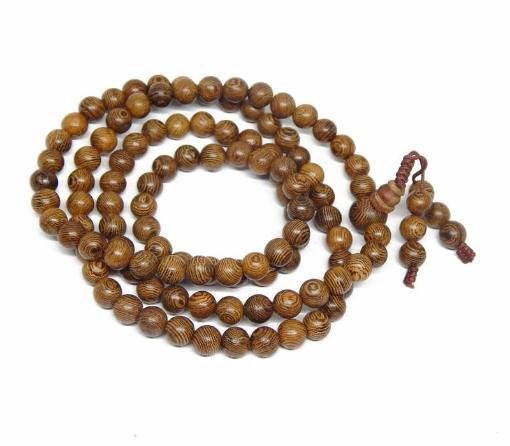 Palm Wood Beads Mala